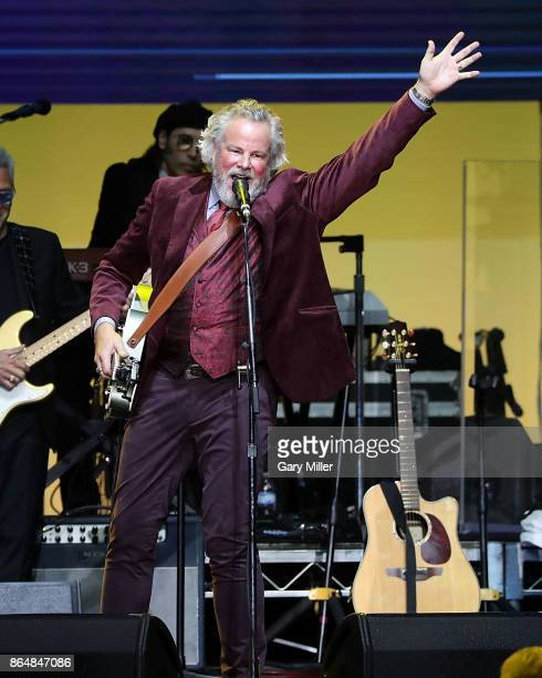 Robert Earl Keen performs in concert during the Deep From The Heart One America Appeal Concert at Reed Arena on October 21 2017 in College Station...