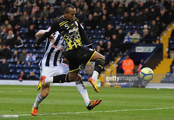 Robert Earnshaw of Cardiff City scores during the FA Cup Third Round match between West Bromwich Albion and Cardiff City at The Hawthorns on January...