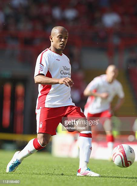 Robert Earnshaw of Forest during the npower Championship game between Bristol City and Nottingham Forest at Ashton Gate on April 25 2011 in Bristol...