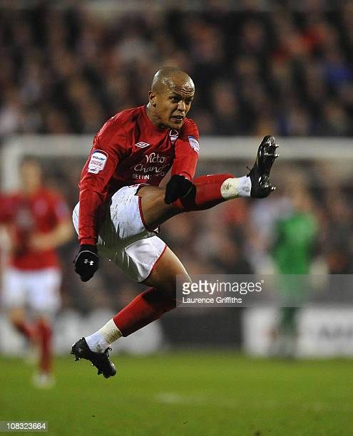 Robert Earnshaw of Nottingham Forest in action during the npower Championship match between Nottingham Forest and Bristol City at City Ground on...