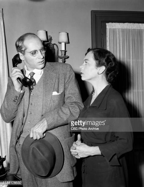 Robert Ellenstein and Ellen Corby star in The Whistler a CBS syndicated television film suspense series Episode The Pattern originally broadcast...