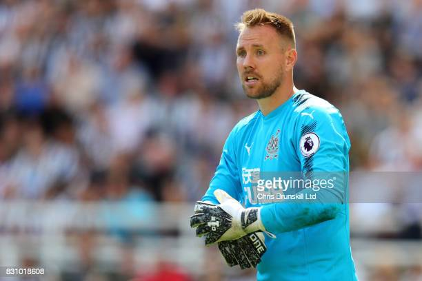 Robert Elliot of Newcastle United looks on during the Premier League match between Newcastle United and Tottenham Hotspur at St James' Park on August...