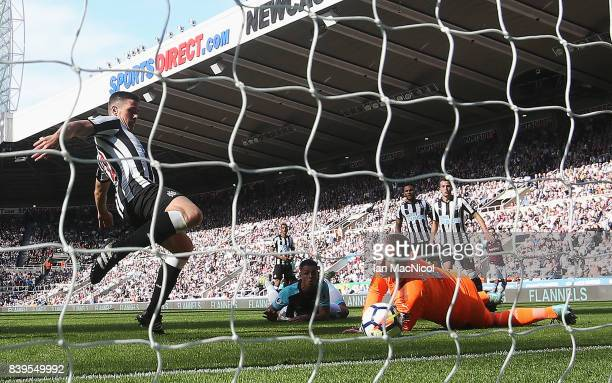 Robert Elliot of Newcastle United reaches for the ball during the Premier League match between Newcastle United and West Ham United at St James Park...