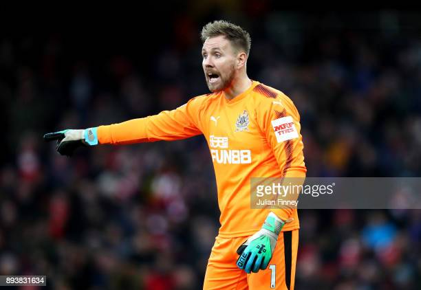 Robert Elliot of Newcastle United reacts during the Premier League match between Arsenal and Newcastle United at Emirates Stadium on December 16 2017...