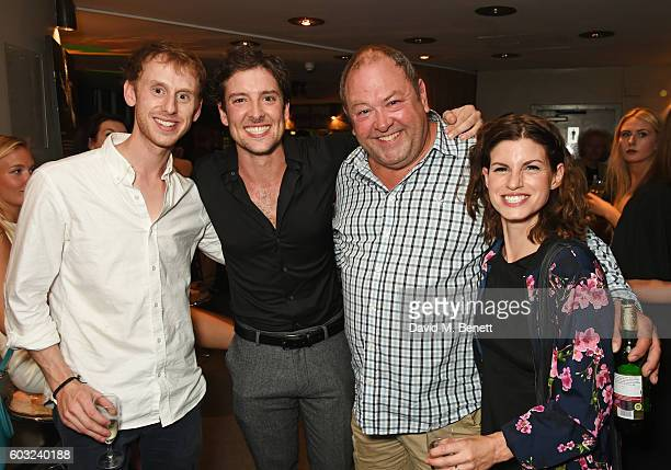 Robert Emms Jack Donnelly Mark Addy and Jemima Rooper attend the press night performance of 27 at The Cockpit Theatre on September 12 2016 in London...