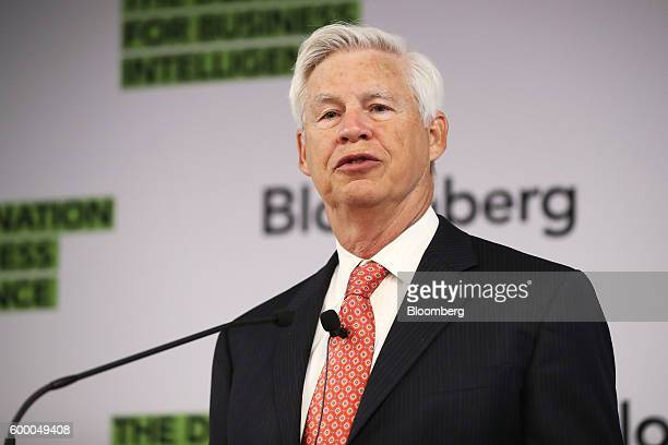 Robert Engle Nobel laureate and professor of finance at New York University's Stern School of Business speaks during a conference organised by the...