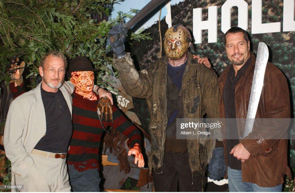 "Hollywood Wax Museum Unveils ""Freddy Vs. Jason"" Figures : News Photo"