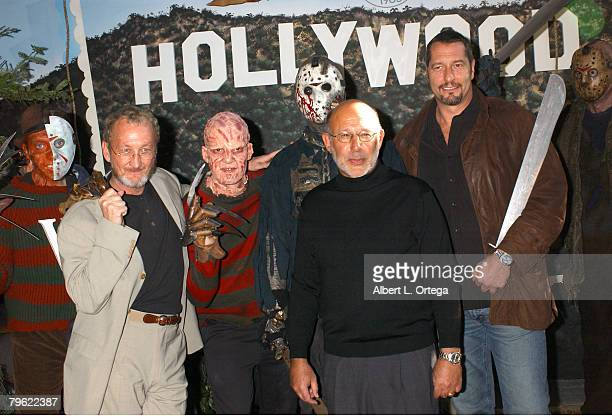 Robert Englund and Ken Kirzinger with Newline Cinema's President and Chief Operating Officer of Home Entertainment Stephen Einhorn