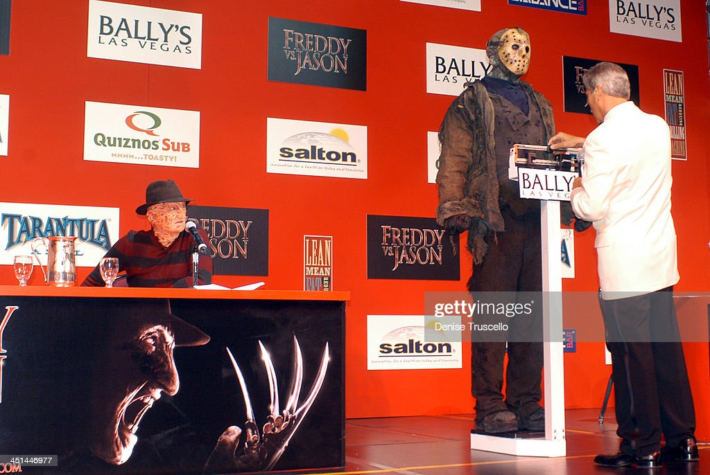 Freddy and Jason Face Off In Las Vegas : News Photo