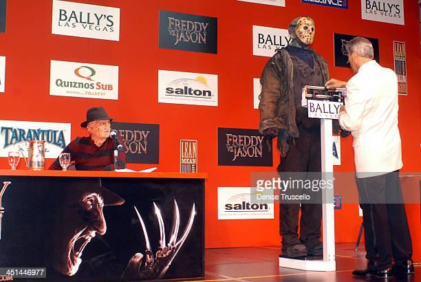 Robert Englund as Freddy Krueger Ken Kirzinger as Jason Voorhees and Emcee Michael Buffer