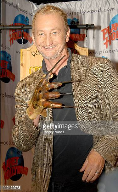 Robert Englund during Freddy Krueger Invades Planet Hollywood to be Reunited with His Infamous Glove and Promote 'Freddy Vs Jason' at Planet...