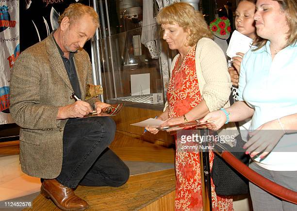 Robert Englund signs autographs during Freddy Krueger Invades Planet Hollywood to be Reunited with His Infamous Glove and Promote 'Freddy Vs Jason'...