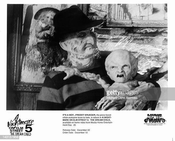 Robert Englund's character is reborn in the film 'A Nightmare on Elm Street The Dream Child' 1989