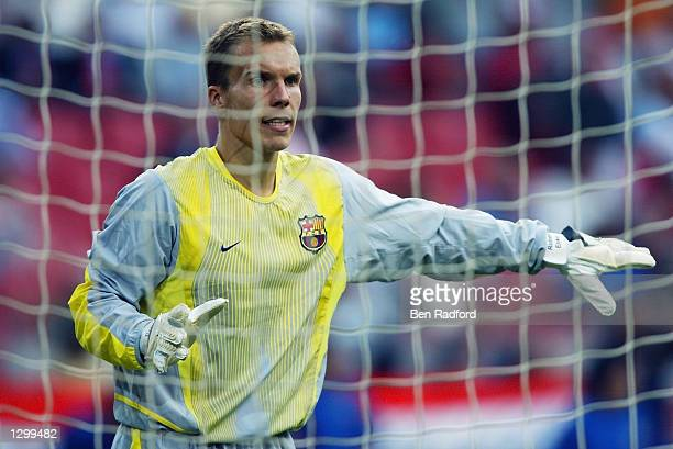 Robert Enke of Barcelona in action during the PreSeason Amsterdam Tournament match between Barcelona and Parma played at the Amsterdam ArenA in...