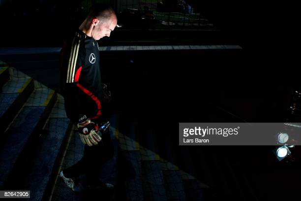 Robert Enke of Germany prior to the Oliver Kahn farewell match between FC Bayern Muenchen and Germany at the Allianz Arena on September 2 2008 in...