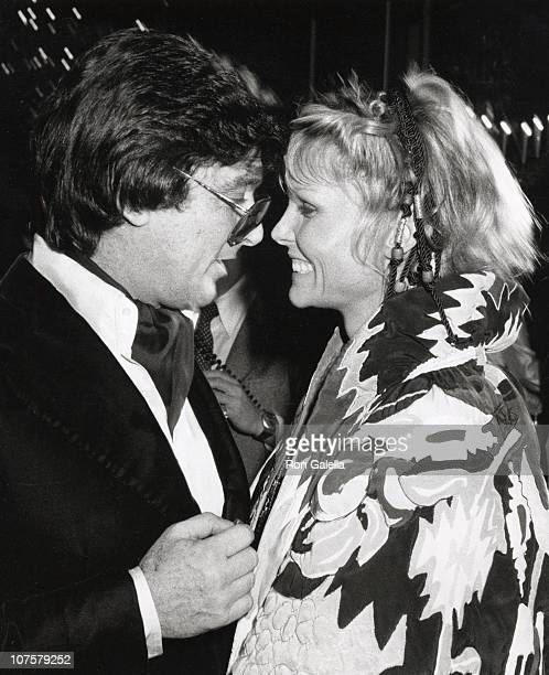 Robert Evans and Cathy Lee Crosby during 85th Birthday Gala tribute to George Burns at Hilton in Beverly Hills California