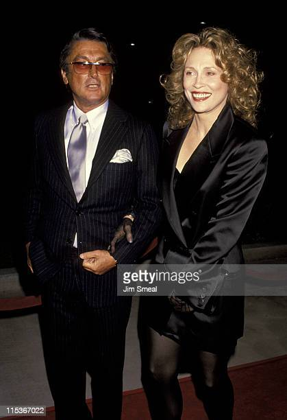 Robert Evans and Faye Dunaway during 'Oscar Great Moments' Gala at Academy of Motion Pictures Center in Beverly Hills California United States