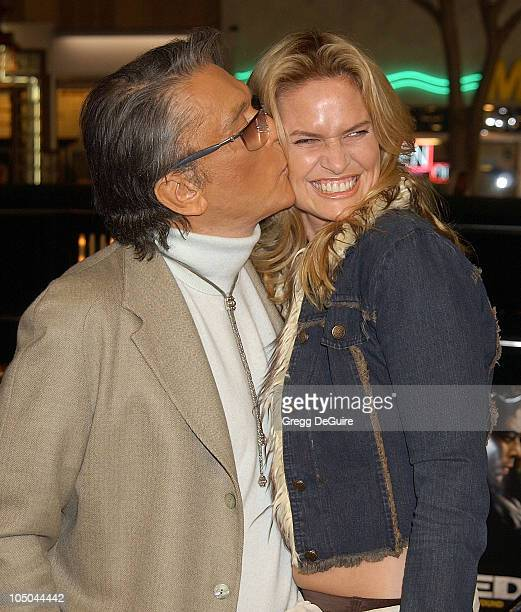 Robert Evans and LeslieAnn Woodward during The Hunted Premiere at Mann Village Theatre in Westwood California United States