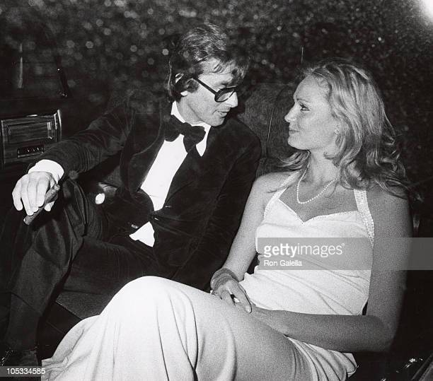 Robert Evans and Marie Sophie Bersson during Henry Kissinger's Birthday Party at Colony Club in New York City New York United States