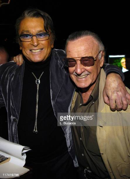 Robert Evans and Stan Lee during Launch Party In Bed with Robert Evans on Sirius Satellite Radio at Robert Evans apartment in Woodland Beverly Hills...
