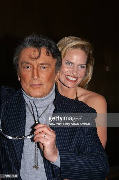 Robert Evans and wife LeslieAnn Woodward are on hand at the AOL Time Warner Screening Room at Rockefeller Plaza for a special HBO presentation of The...