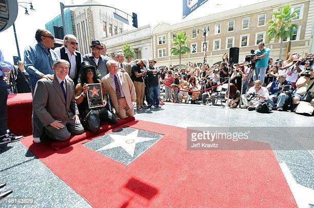 Robert Evans Jim Ladd Charlie Sheen Hollywood Chamber of Commerce President/CEO Leron Gubler Slash and Los Angeles City Councilmember Tom LaBonge...
