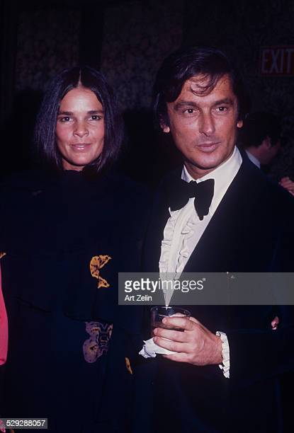 Robert Evans with his wife Ali MacGraw at a formal event circa 1970 New York