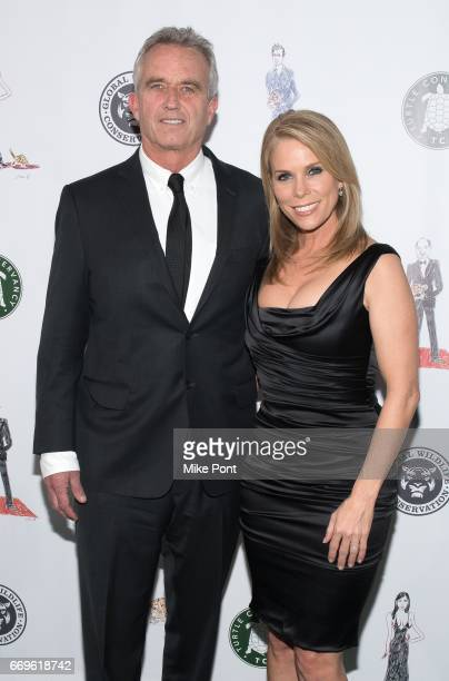 Robert F Kennedy and Cheryl Hines attend the 2017 Turtle Ball at The Bowery Hotel on April 17 2017 in New York City