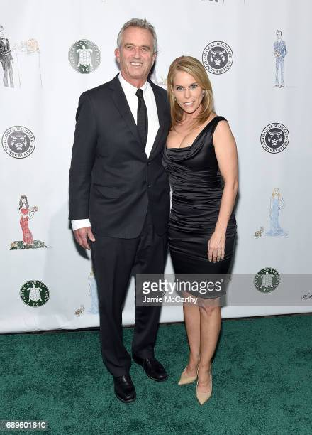 Robert F Kennedy and Cheryl Hines attend The Turtle Conservancy's Fourth Annual Turtle Ballat The Bowery Hotel on April 17 2017 in New York City