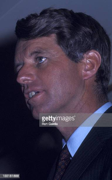 Robert F Kennedy attends Clergy For Kennedy Campaign Rally on May 28 1968 at the Ambassador Hotel in Los Angeles California