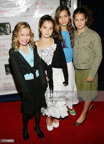 Robert F Kennedy grandchildren Saoirse Kennedy Hill Michaela Kennedy Cuomo Mariah Kennedy Cuomo and Cara Kennedy Cuomo attend the Speak Truth To...