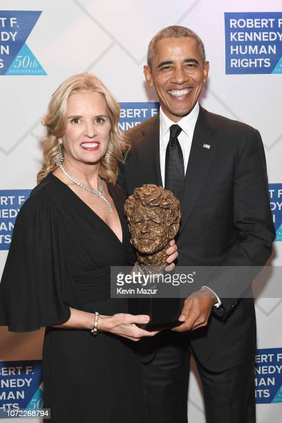 Robert F Kennedy Human Rights President Kerry Kennedy and Former President Barack Obama attend the 2019 Robert F Kennedy Human Rights Ripple Of Hope...