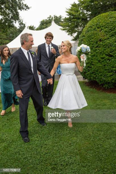 Robert F Kennedy III looks on during Cheryl Hines and Robert F Kennedy Jr Wedding at a private home on Saturday August 2 in Hyannis Port...