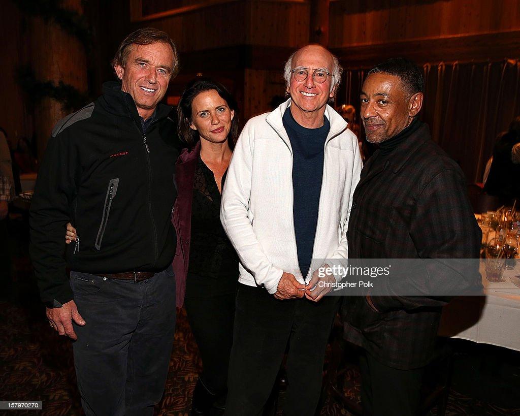 Robert F. Kennedy Jr., Amy Landecker Producer/Writer/Actor Larry David and actor Gianearlo Esosito attend the Deer Valley Celebrity Skifest at Deer Valley Resort on December 7, 2012 in Park City, Utah.