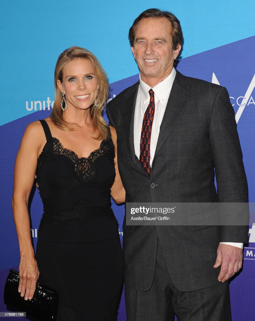 Robert F. Kennedy Jr. and actress Cheryl Hines arrive at the 1st Annual unite4:humanity event hosted by unite4:good and Variety at Sony Studios on February 27, 2014 in Los Angeles, California.
