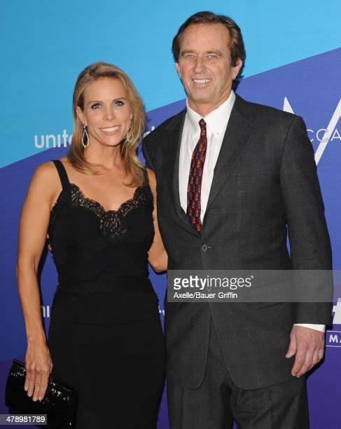 Robert F Kennedy Jr and actress Cheryl Hines arrive at the 1st Annual unite4humanity event hosted by unite4good and Variety at Sony Studios on...