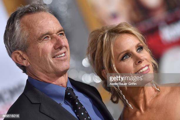 Robert F Kennedy Jr and actress Cheryl Hines arrive at the Los Angeles premiere of 'A Bad Moms Christmas' at Regency Village Theatre on October 30...