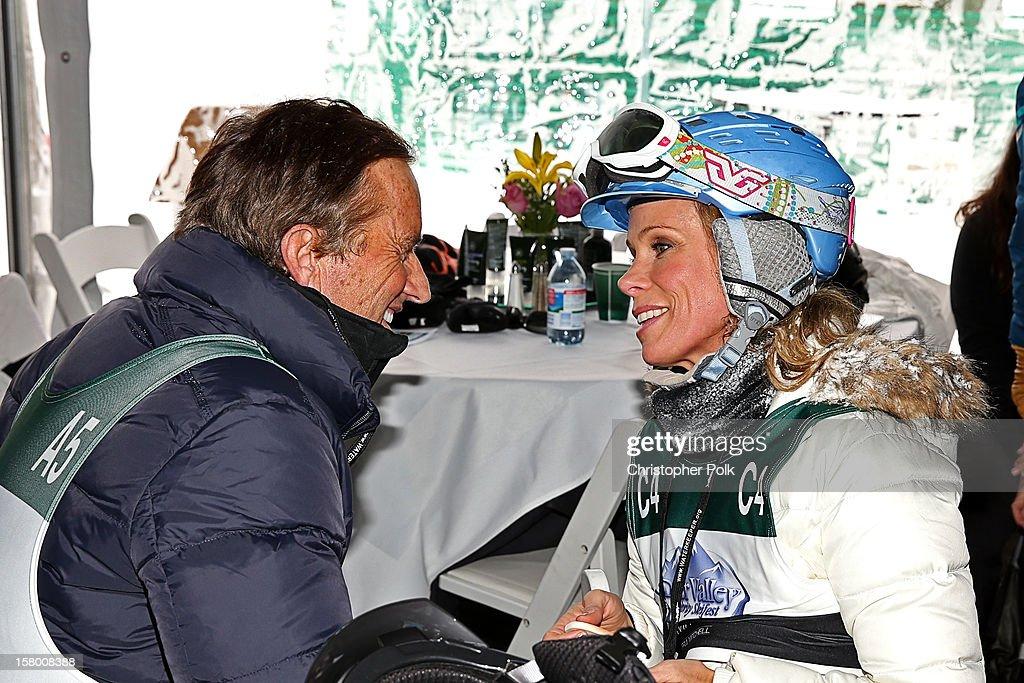 Robert F. Kennedy Jr. and Actress Cheryl Hines attend the Deer Valley Celebrity Skifest at Deer Valley Resort on December 8, 2012 in Park City, Utah.