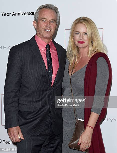 Robert F Kennedy Jr and actress Donna Dixon arrive at the 10th Annual GO Campaign Gala at Manuela on November 5 2016 in Los Angeles California