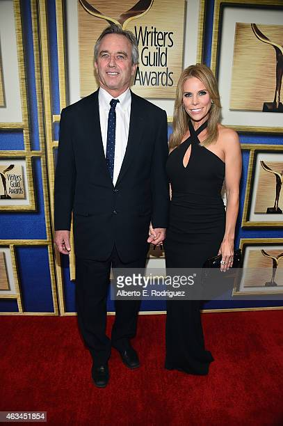 Robert F. Kennedy, Jr. And Cheryl Hines attend the 2015 Writers Guild Awards L.A. Ceremony at the Hyatt Regency Century Plaza on February 14, 2015 in...