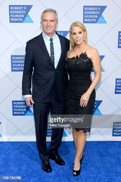 Robert F Kennedy Jr and Cheryl Hines attend the 2018 Robert F Kennedy Human Rights' Ripple Of Hope Awards at New York Hilton Midtown on December 12...