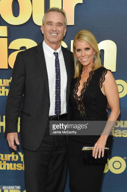 Robert F Kennedy Jr and Cheryl Hines attend the Curb Your Enthusiasm season 9 premiere at SVA Theater on September 27 2017 in New York City