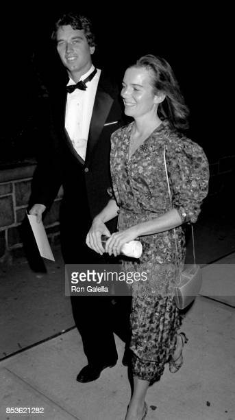 Robert F Kennedy Jr and Emily Ruth Black attend Gorillas In The Mist World Premiere on September 14 1988 at the Beekman Theater in New York City
