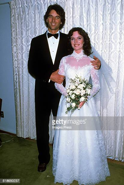Robert F Kennedy Jr and Emily Ruth Black attends a photocall after getting married on April 3 1982 in her hometown of Bloomington Indiana