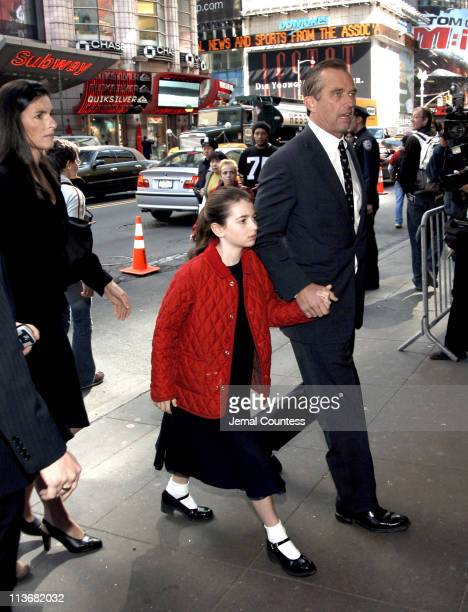 Robert F. Kennedy, Jr arrives at the Memorial for Dana Reeve at the New Amsterdam Theatre on March 10, 2006 in New York City. Dana Reeve, wife of the...