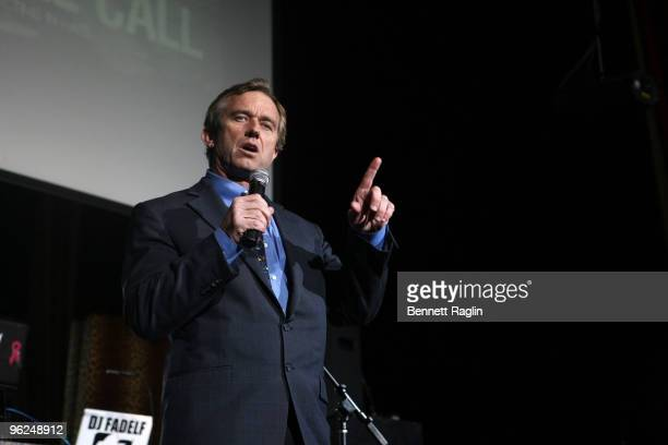 Robert F Kennedy Jr attends the Answering The Call fundraiser at M2 Ultra Lounge on January 28 2010 in New York City