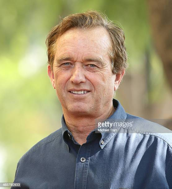 Robert F Kennedy Jr attends the ceremony honoring Cheryl Hines with a Star on The Hollywood Walk of Fame held on January 29 2014 in Hollywood...