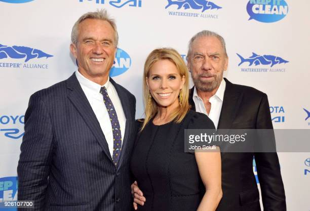 Robert F Kennedy Jr Cheryl Hines and John Paul DeJoria attend Keep it Clean to benefit Waterkeeper Alliance on March 1 2018 in Los Angeles California