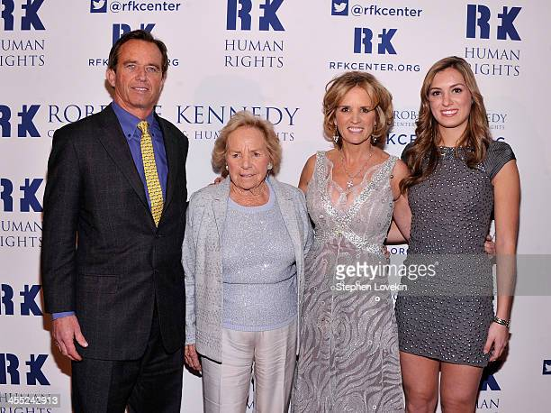 Robert F Kennedy Jr Ethel Kennedy President of RFK Center Kerry Kennedy and Mariah Kennedy Cuomo attend Robert F Kennedy Center For Justice And Human...