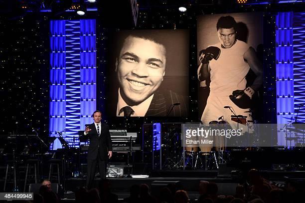 Robert F. Kennedy Jr. Speaks onstage during Muhammad Ali's Celebrity Fight Night XX held at the JW Marriott Desert Ridge Resort & Spa on April 12,...